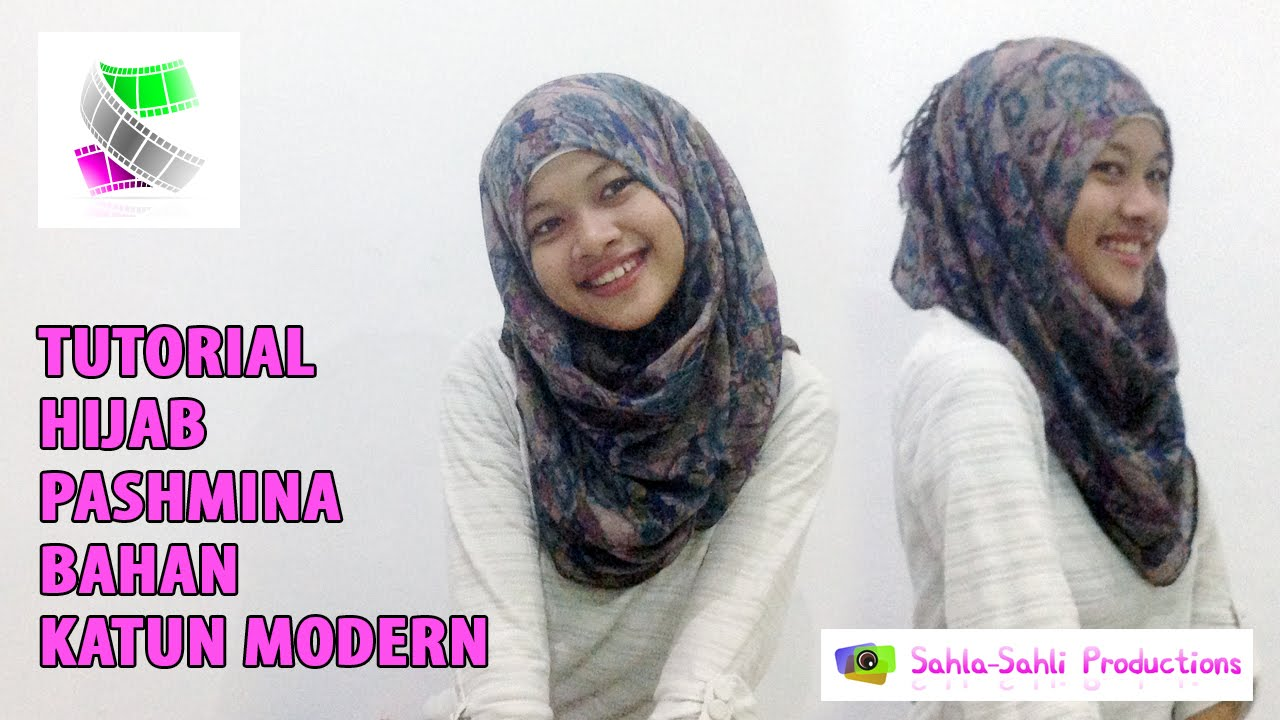 1 MENIT TUTORIAL HIJAB PASMINA KATUN MODERN FORMAL NONFORMAL