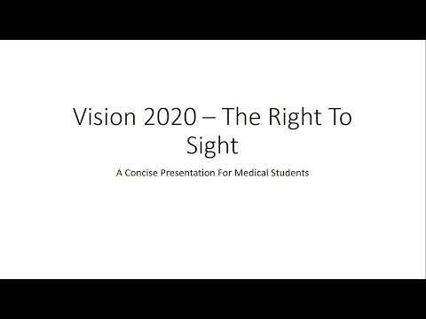 Vision 2020 : The Right to Sight - For Medical Students