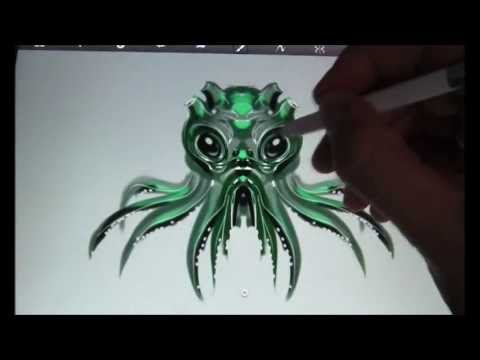 Cthulhu Sketch - Sketchbook Pro - Samsung Note 10.1