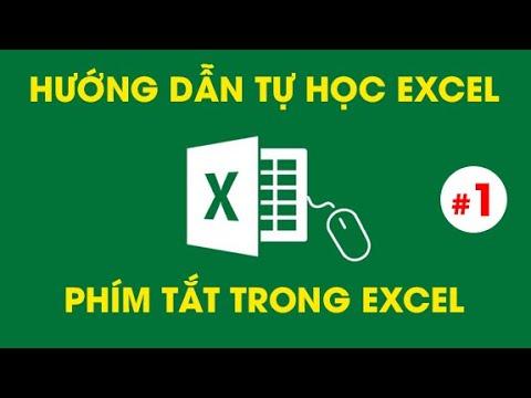 Tự Học Excel - Các phím tắt THẦN KỲ trong Excel #1