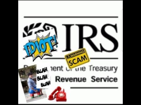 Idiot IRS Scammer goes on and on and on and on....