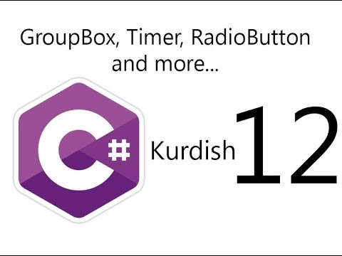 C# Form application in Kurdish Lesson Twelve- (GroupBox, Timer, RadioButton,And More...)