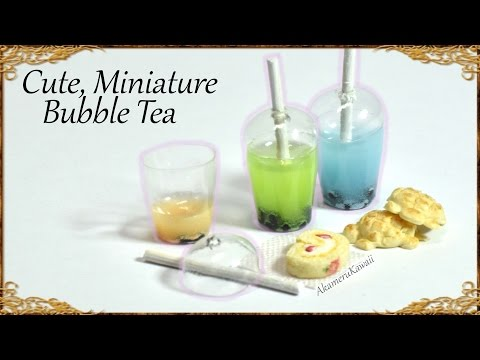 Cute Miniature Bubble Tea - Resin / Polymer Clay Tutorial