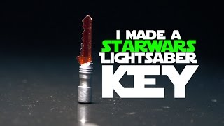 Make a Star Wars Lightsaber Key