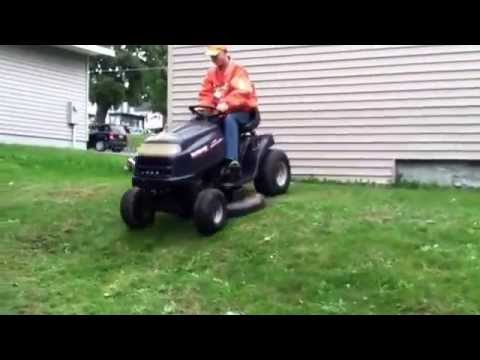Riding on my new MTD Yard Machines and test the mower