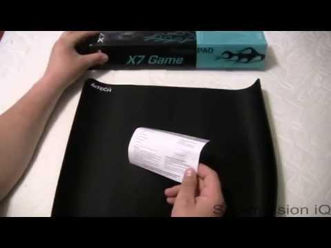 Игровой коврик A4tech X7 500 MP распаковка, обзор