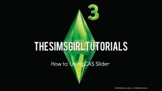 The Sims 3 Master Controller CAS Slider