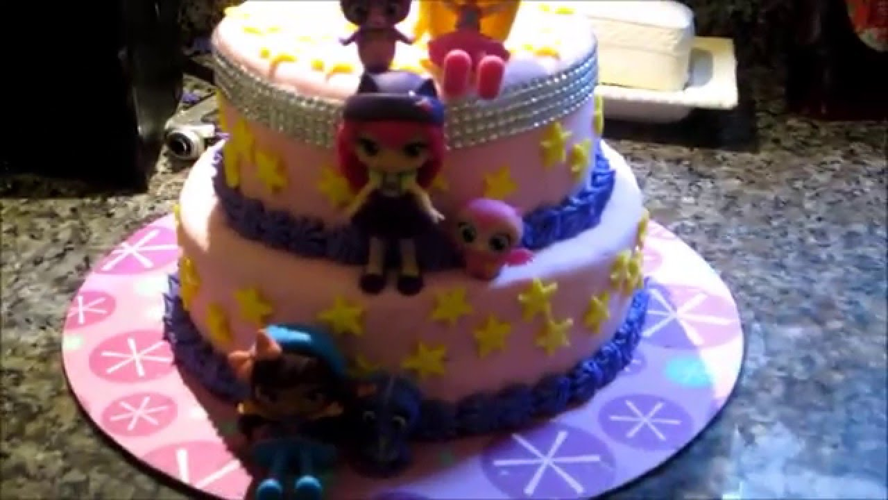Reveal of the Little Charmers surprise Birthday cake I made for ...