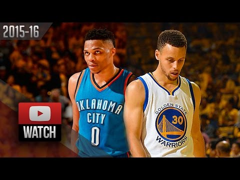 Stephen Curry vs Russell Westbrook Game 1 Duel Highlights 2016 WCF Warriors vs Thunder - EPIC!