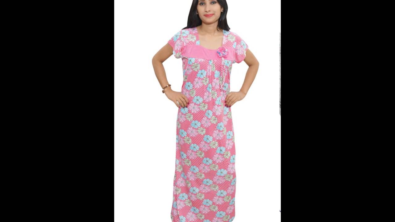 Cotton Nightgown dress - YouTube
