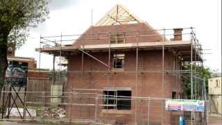 Wonderful Homes - Roofs Being Built On 5 New Homes We're Building On Gospel Lane, Birmingham