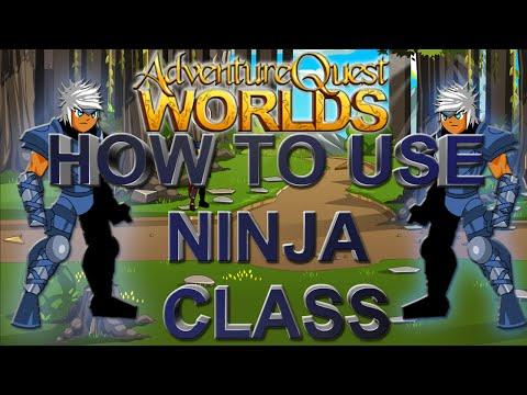 AQWorlds How to use Ninja Class!