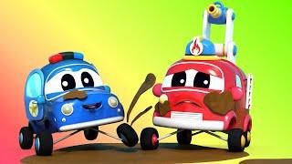 الشاحنات الصغيرة السيارات الصغيرة تتعلم النظافة في مغسلة السيارات رسوم متحركة تعليمية مع الشاحنات