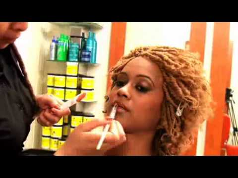 Pose de Vanilles et Coloration - Locks Twists Tresses Salon - YouTube