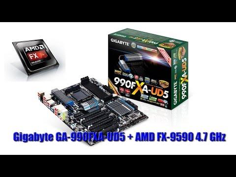 Gigabyte Ga 990fxa Ud5 Bios Update To Use 4 7ghz On An Amd Fx 9590 Youtube