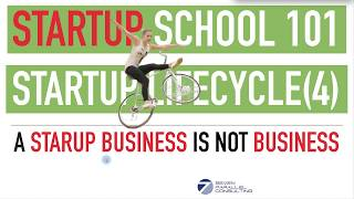 Startup School Series - Complete Startup Life Cycle (Part 4) A Startup Business Is NOT BUSINESS YET