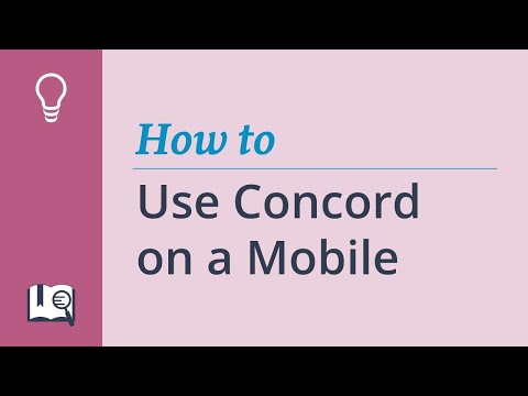How to use Concord on a Smartphone