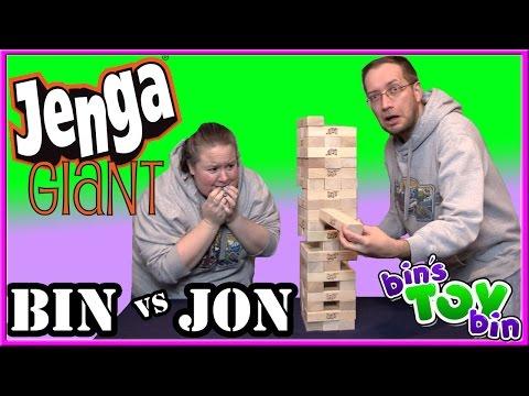 Bin Vs Jon - JENGA GIANT | Bin's Toy Bin