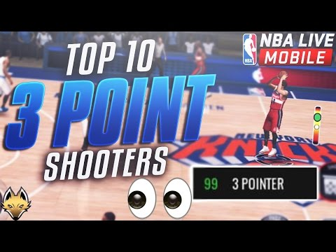 Top 10 BEST 3 Point Shooters In NBA Live Mobile!! 99 STATS Everywhere!!