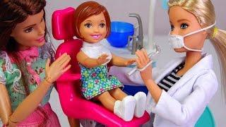 ★토이구마★바비인형 치과의사와 아기 놀이세트 개봉기★Barbie Dolls Dentist Playset Unboxing★バービー人形 歯医者さんセット