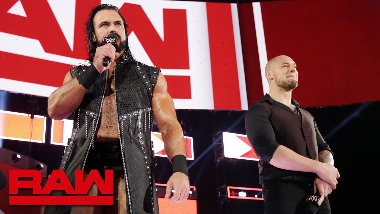 Baron Corbin and Drew McIntyre interrupt Kurt Angle's emotional address: Raw, Feb. 4, 2019