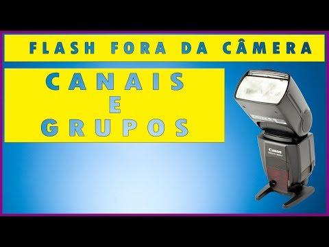 Como usar flash externo - Configurando Canais e Grupos
