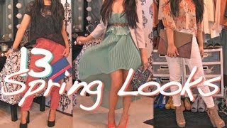 Spring Must-haves! 2012 Fashion Trends & Lookbook Haul