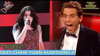 FASTEST CHAIR TURN AUDITIONS IN THE VOICE [PART 2] thumbnail