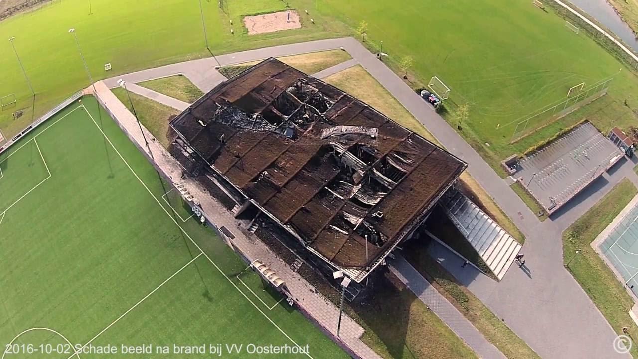 Schadebeeld na brand bij VV Oosterhout. - YouTube
