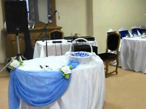 Оформление свадьбы в синем цвете