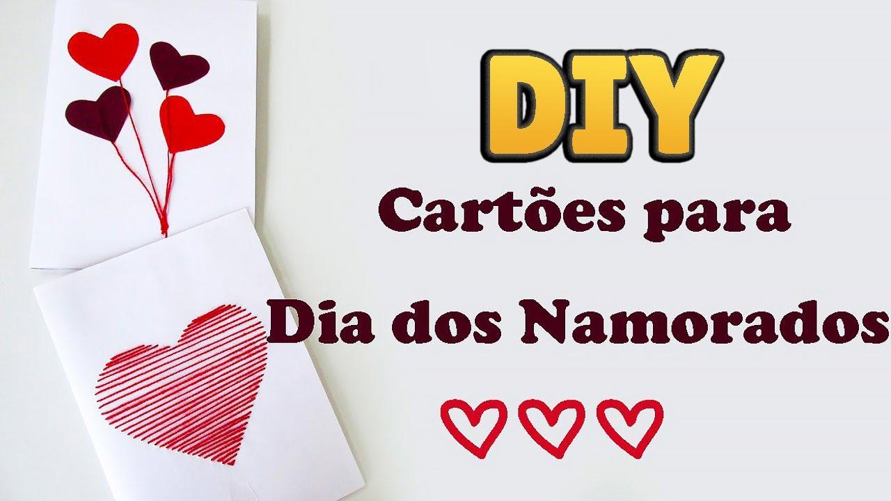 DIY: IDEIAS DE CARTÕES DE DIA DOS NAMORADOS 💖💌- Fácil E