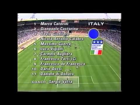 Francesco Totti. #8 © 1992 Wembey England-Italy under16