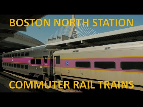 MBTA Commuter Rail Trains At North Station