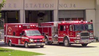 Pasadena Fire Dept. Engine & RA34