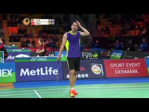 Yonex Denmark Open 2015 | Badminton R16 M1-MS | Lee Chong Wei vs Wei Nan