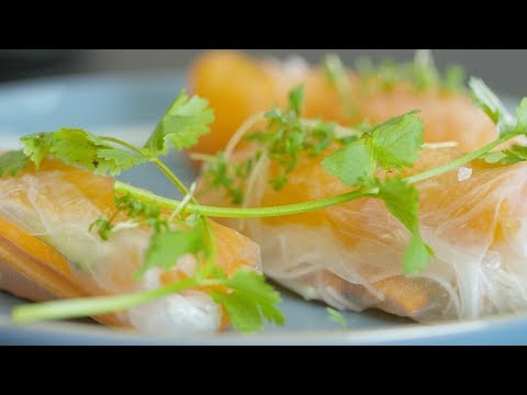 Spring Rolls With Smoked Salmon