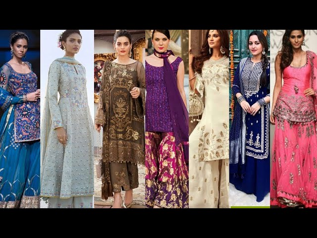 Beautiful designer suits for party wear || Stylish different colour punjabi suits || Kaur Trends