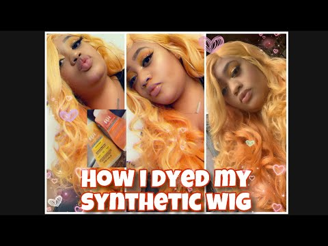 That color tho!How to dye a synthetic wig!