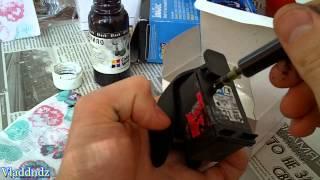 Заправка картриджа HP 121(Это не инструкция по заправке, а демонстрация того как и с помощью чего я заправляю свой картридж HP 121. Если..., 2013-05-23T18:51:58.000Z)