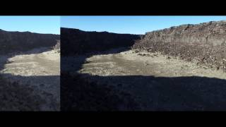 4k dji inspire 1 lava fields and set up with color grading lut