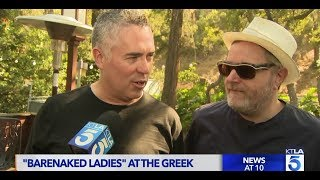KTLA was with the Barenaked Ladies before they went on stage