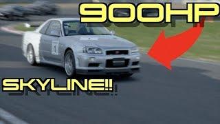 900HP Nissan Skyline GTR R 34 V. Spec II Nur | Gran Turismo Sport