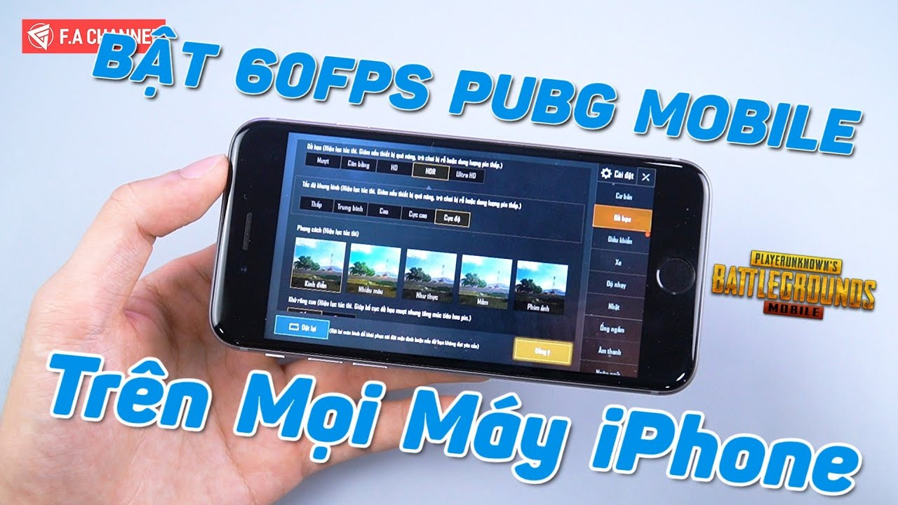 Hướng Dẫn Bật HDR-Extreme PUBG Mobile Trên Mọi Máy iPhone,iPad Rất Dễ Dàng! Unlock 60FPS PUBG Mobile
