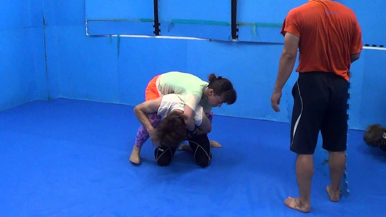 Asian female mixed wrestling