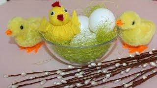 цыпленок из фетра в пасхальную корзинку своими руками за 15-20 минут
