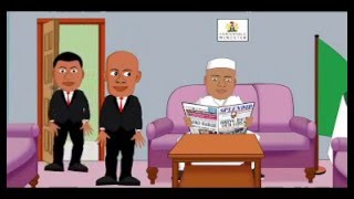 Nigeria Interior Minister Turns SSS Official To Shoe Shiner (Splendid Cartoon)