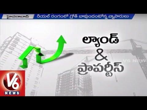 Real Estate Boom   Realters focused on Hyderabad City   Smart City, ITIR, Metro Rail   V6 News