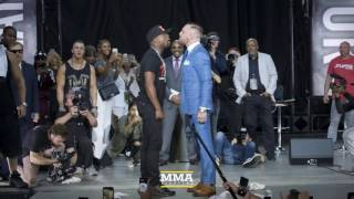 Floyd Mayweather vs. Conor McGregor (Toronto) Opening Staredown - MMA Fighting