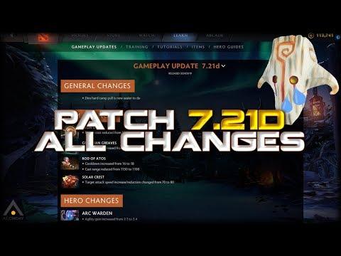 New Dota 2 Patch 7.21d Changes, Buffs, Nerfs and Meta thumbnail
