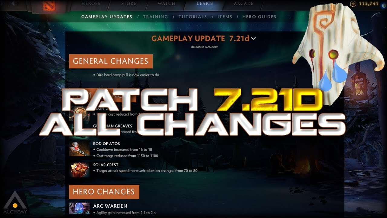 New Dota 2 Patch 7 21d Changes, Buffs, Nerfs and Meta